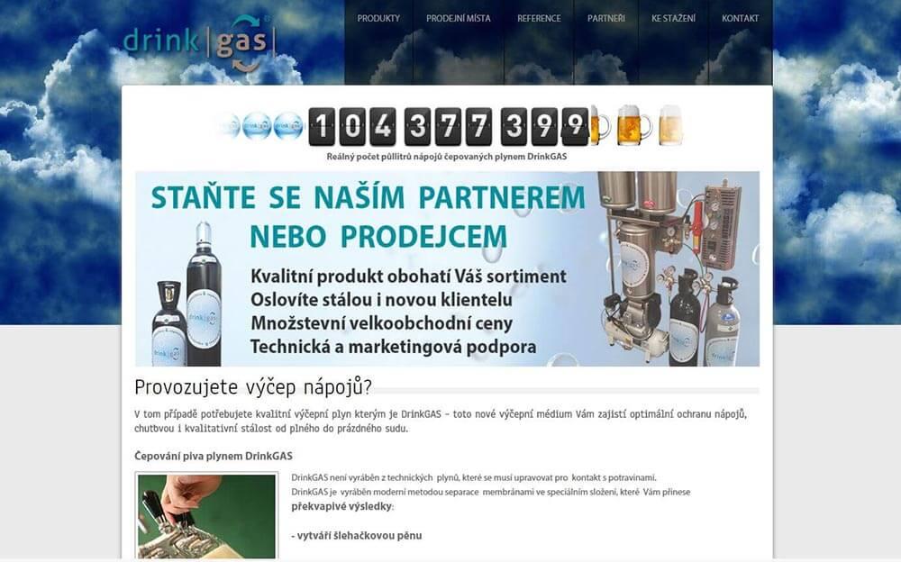 Webové stránky DrinkGAS
