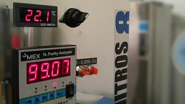 řízení generátoru dusíku