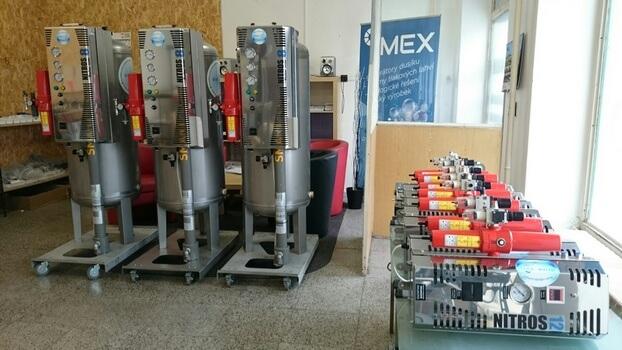 kompletní řada generátorů dusíku NITROS skladem