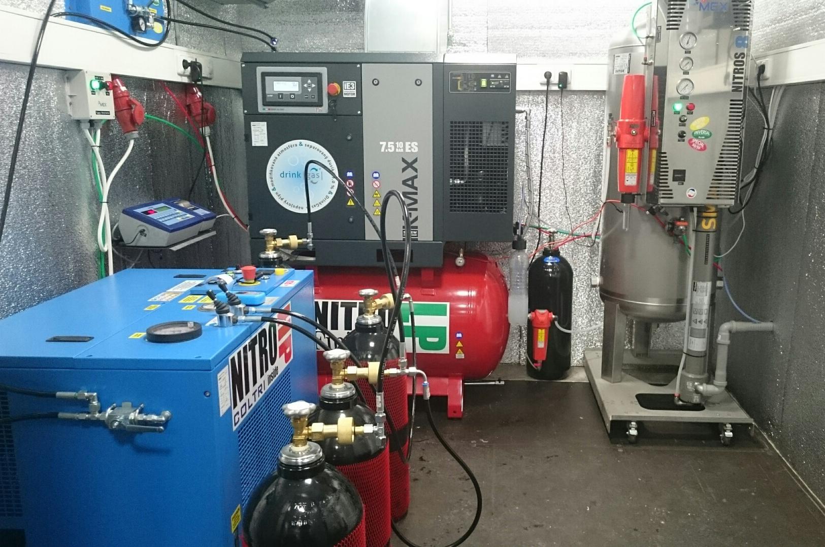 Generátor dusíku NITROS - tlakové lahve